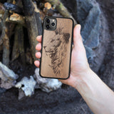 Wood iPhone Case 8 Plus Lion