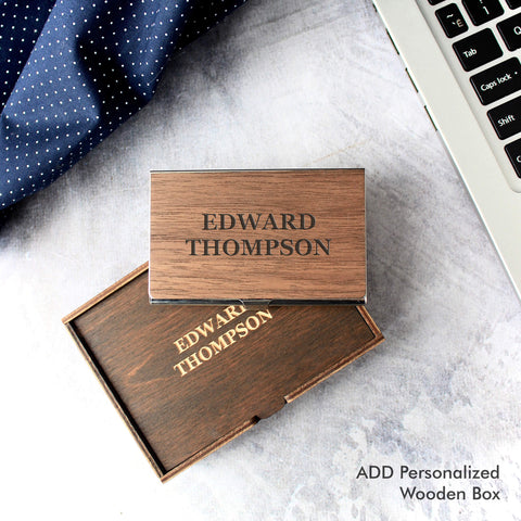 Custom Business Card Holder Case