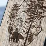 Woodland Bear - Wood iPhone Case