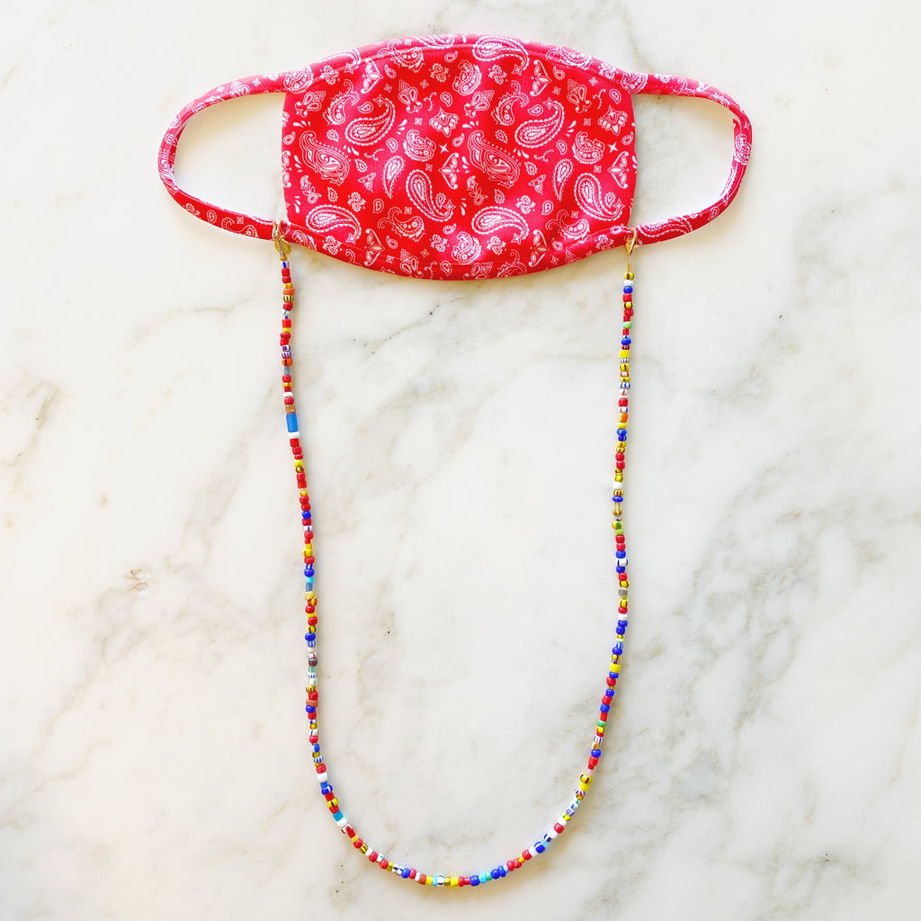 3 in 1: Face Mask & Sunglass Necklace - TRIBAL