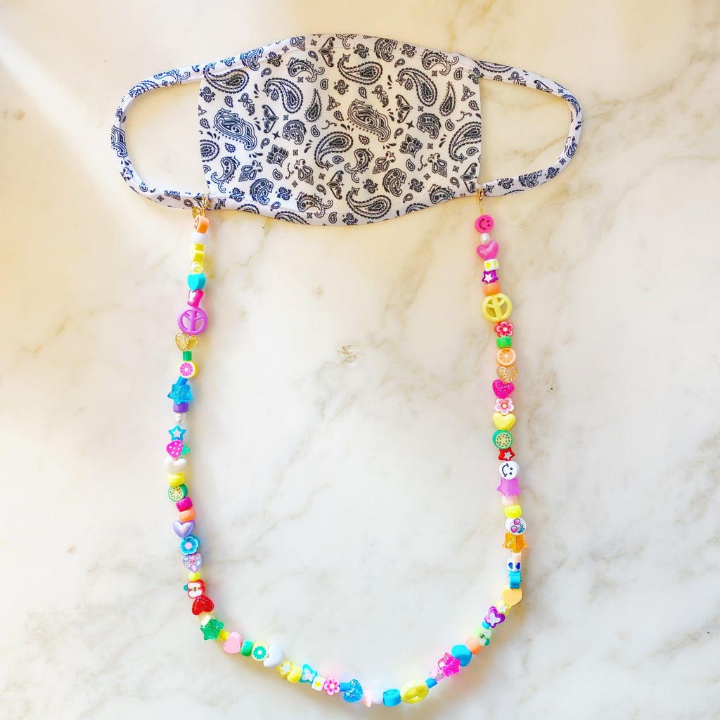 3 in 1: Face Mask & Sunglass Necklace - FAIRY