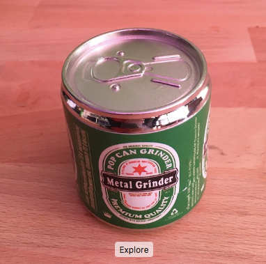 Beer Can Mini Grinder