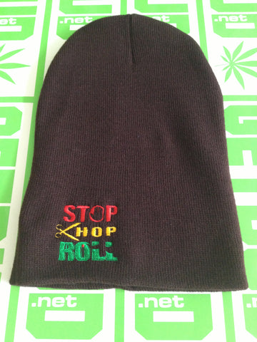 Tall Beanie - Stop Chop and Roll Logo