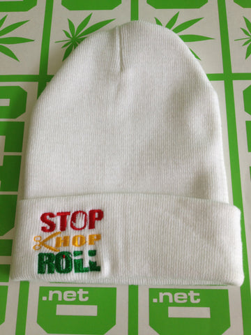 Cuffed Beanie - Stop Chop and Roll Logo