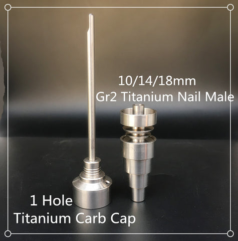 Universal Domeless Titanium Nail Fits 14mm,18mm and 19mm Adjustable Male or Female Titanium Nails