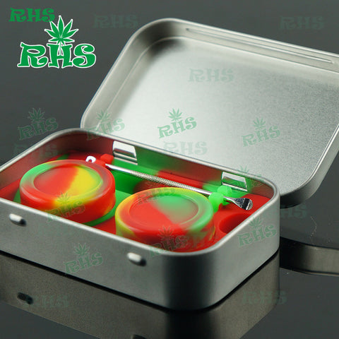 Aluminum case with food-grade Silicone Dab Wax/Oil and Dabber tool