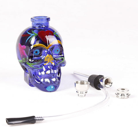 Colored Glass Skull Pipe