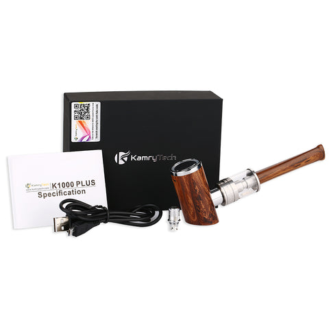 Kamry K1000+ ePipe Kit with built-in 1000mAh battery and 4ml atomizer