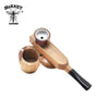 Sandalwood & Metal Folding Pipe With Storage Cutout