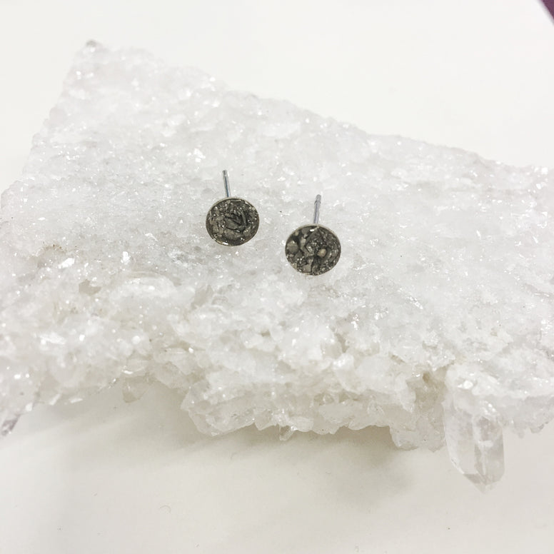 Pyrite Stud Earrings - 5mm/Round - Cloud and Lolly Jewelry Studio