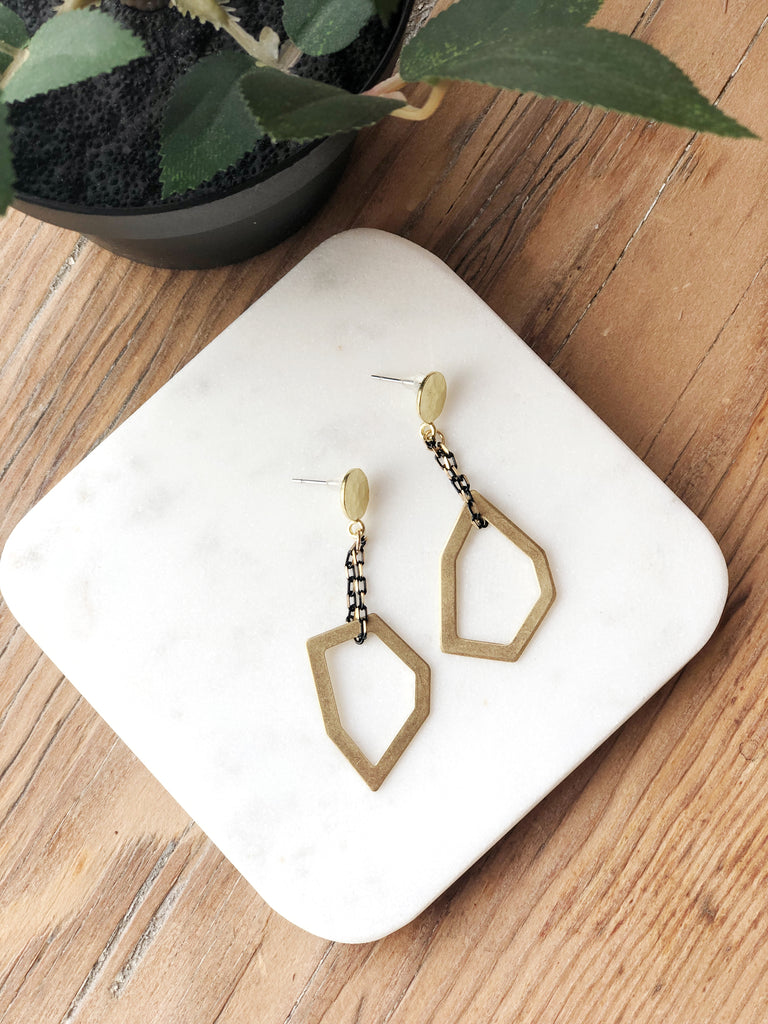 Unique Geometric Dangle Earrings