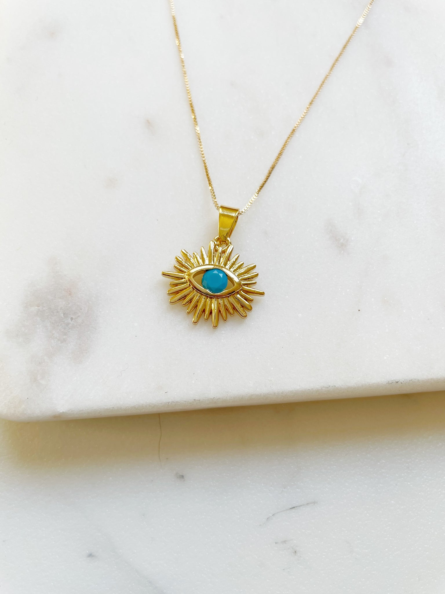 Evil Eye Protection Necklace - Aurora Lux Jewellery