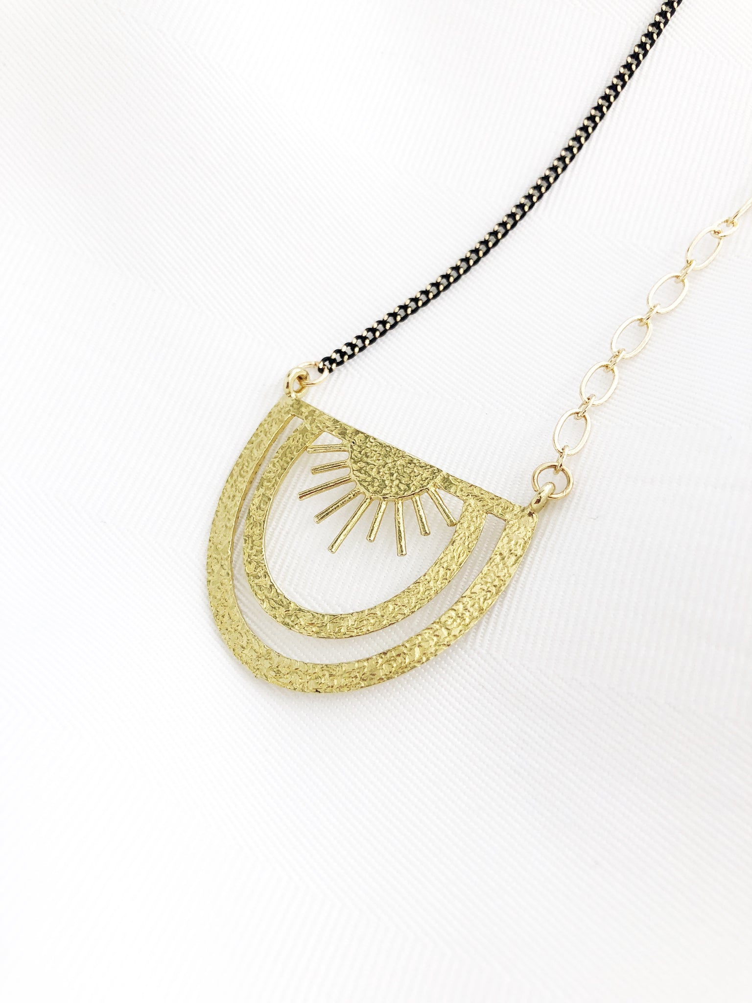 Peyton Sunburst Necklace - Aurora Lux Jewellery