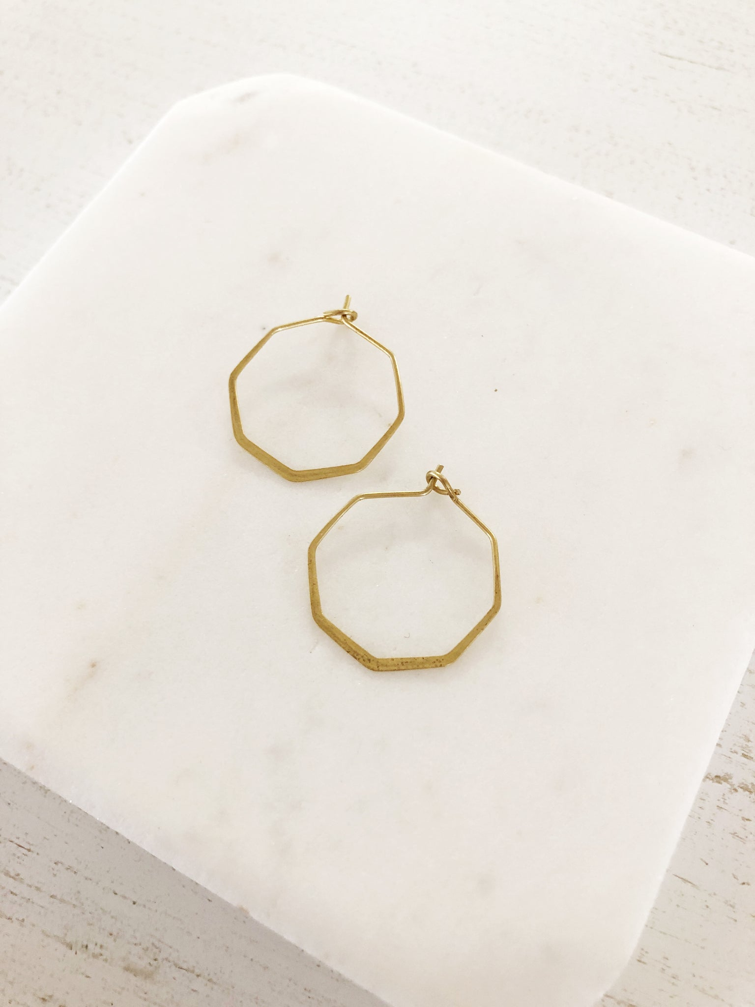 Mini Octagon Hoop Earrings - Aurora Lux Jewellery