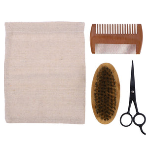 Men's Beard Grooming and Trimming Kit with Storage Bag
