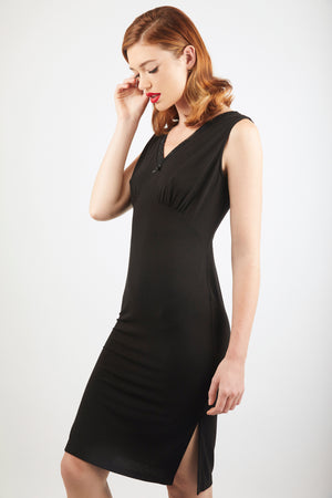 V-Neck Nightdress - Black