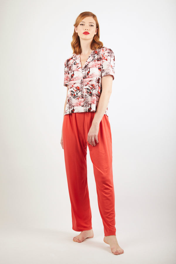 Pyjama Top - Zayana Print - Red