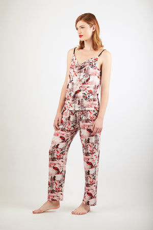 Trousers - Zayana Print - Red