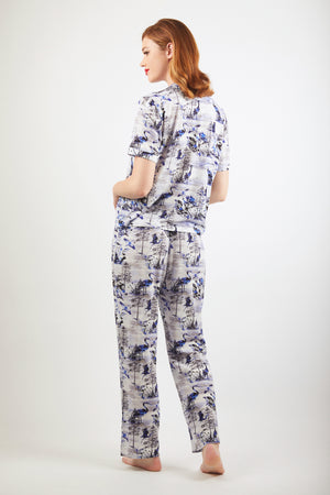 Trousers - Zayana Print - Blue