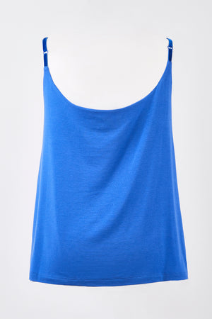 Cowl-Neck Vest Top - Azure Blue