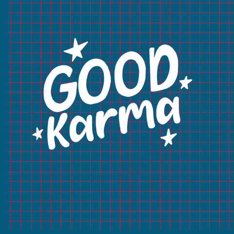 Good Karma graphic with grid