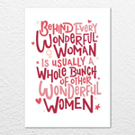 'Wonderful Women' Print