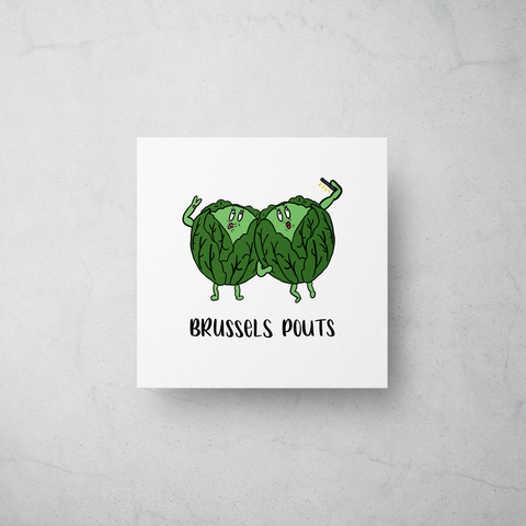 Brussels Pouts - Foodie Christmas Card