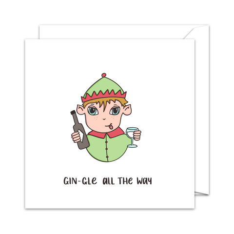 Gin-gle Bells - Christmas Card