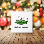 Hap-Pea Holidays - Foodie Christmas Card