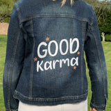 Denim with Lettering