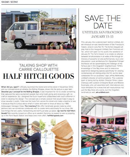 Half Hitch Goods in Luxe Mag