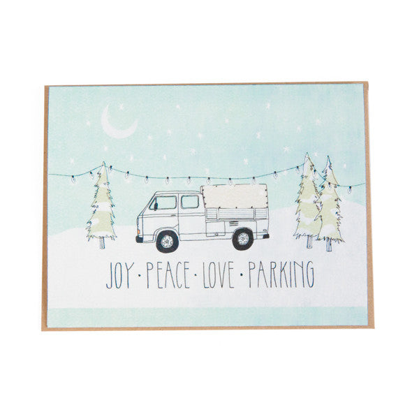 """Joy - Peace - Love - Parking"" Card"