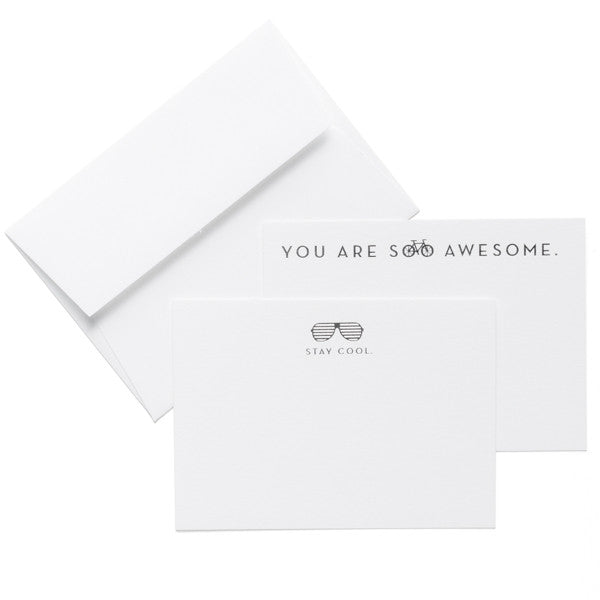 """Awesome / Cool"" Card Set of 8"