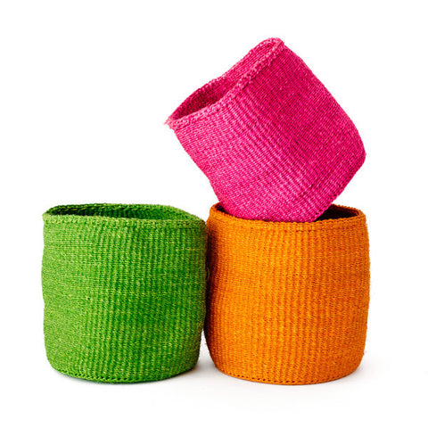 Colorful African Sisal Utility Basket
