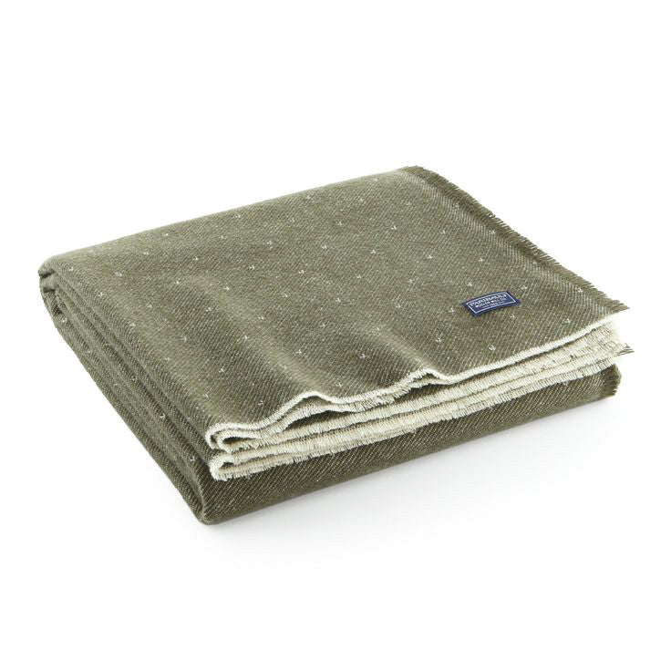 Dot Wool Throw - Olive
