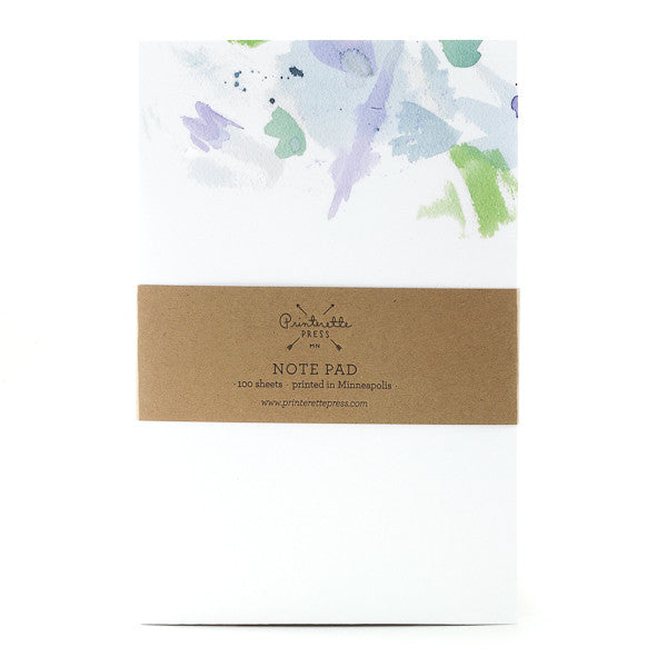 Watercolor Notepad - Blue/Green
