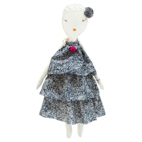 Jess Brown Rag Doll - Three-Tiered Dress