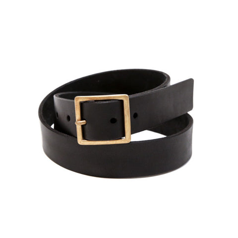 Handmade Leather Belt - Black
