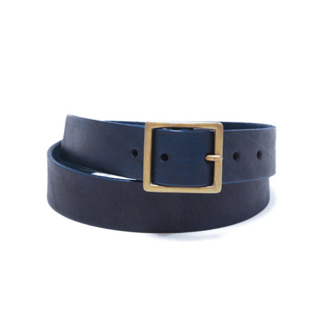 Handmade Leather Belt - Blue