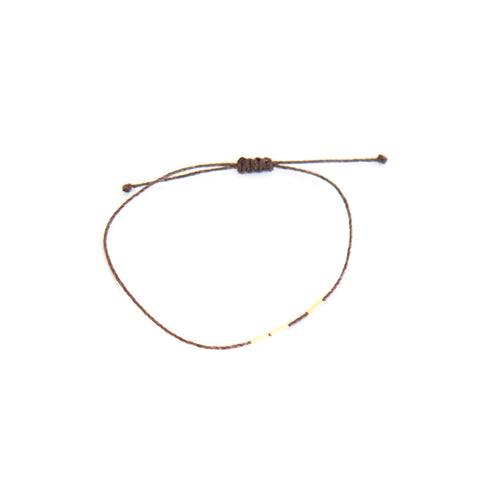 """Bamboo"" Bracelet - Brown"