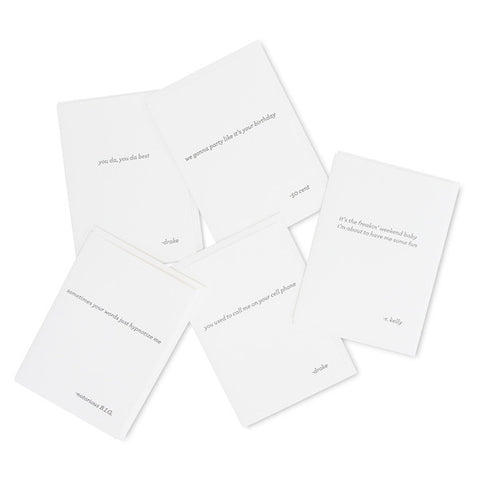 Rap Card Set of 5
