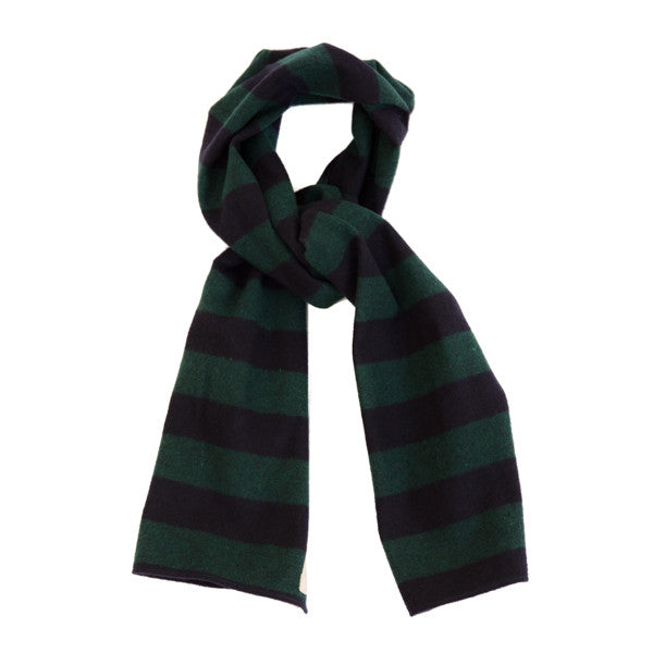 The Hill-Side Scarf - Border Stripe Flannel