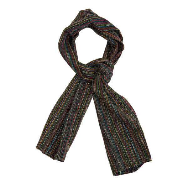 "The Hill-Side Scarf - ""Old Virginia"" Modified Herringbone Stripe"