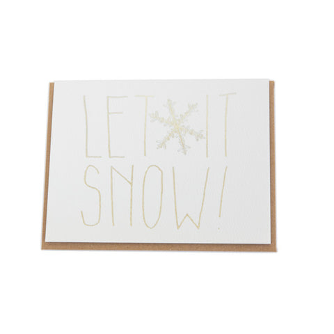 """Let It Snow"" Card"