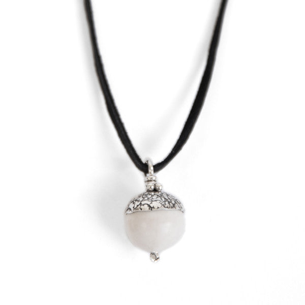Howlite Acorn Necklace