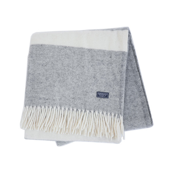 Lodge Stripe Throw - Grey