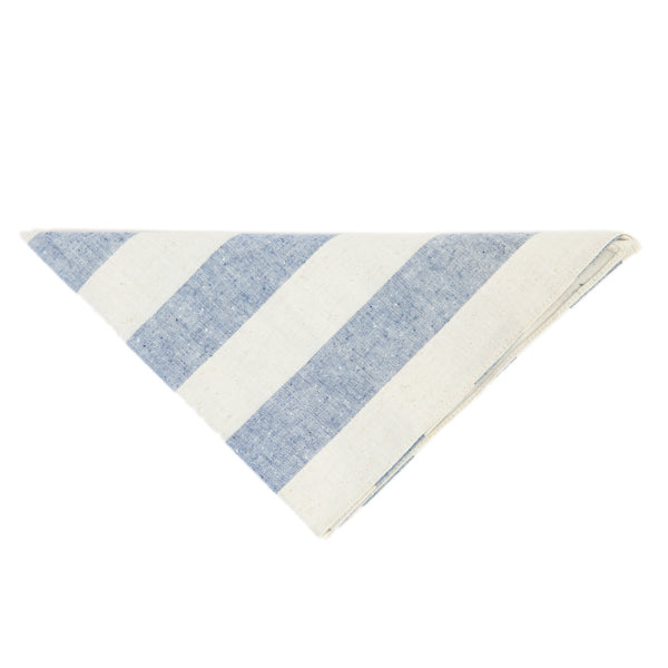 The Hill-Side Bandana - Wide Border Stripe Canvas
