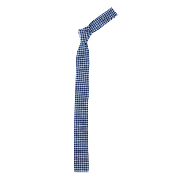 The Hill-Side Tie - Selvedge Indigo Gingham
