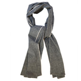 The Hill-Side Scarf - Black Selvedge Chambray