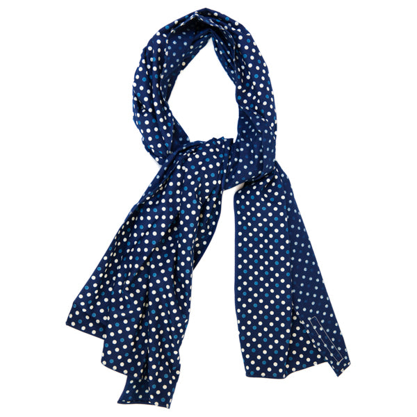 The Hill-Side Scarf - Selvedge Polka Dot Discharge Print